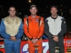 Granite State Pro Stock Series top 3 from Riverside Speedway (L-R) 3rd-#46 Jake Vanada, 1st #27 Wayne Helliwell Jr and 2nd- #48
